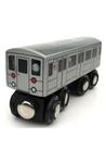 Train: S 42nd St Shuttle NYC Subway Wooden Car
