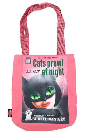 Tote Bag: Pulp Cats Prowl At Night